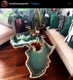 Emerald Green African Table