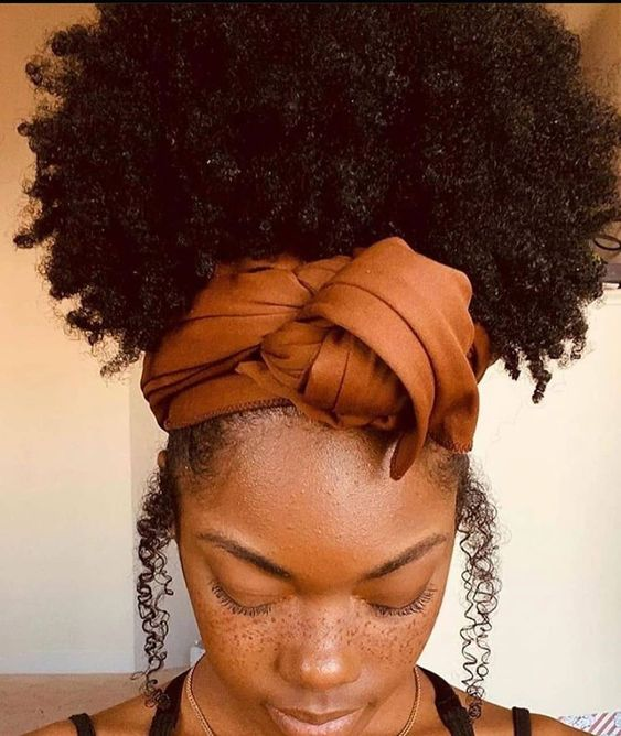 """afro-hairpin on Instagram: """"A funky headscarf and a big afro-puff and voila! . . . . . . #kenyan ..."""