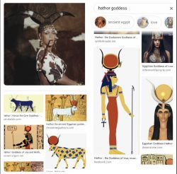 She is dressed as Hathor not the devil!