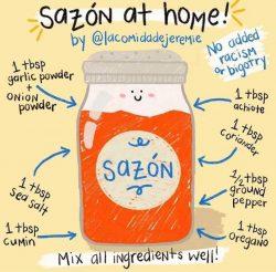 SAZON Recipe