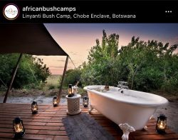 Bathing under the Southern African sunset