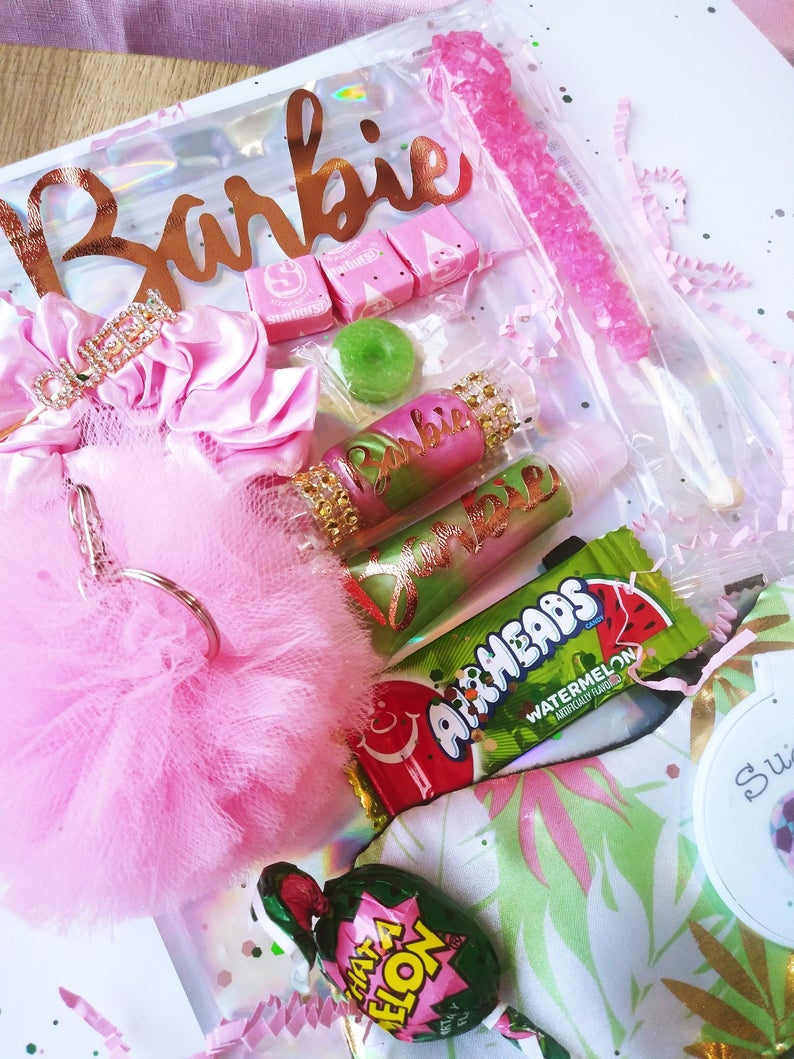 Barbie Lip Gloss Bundle with candy Gift