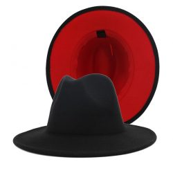 Red Bottom Feroda Hats | Two Tone Hats