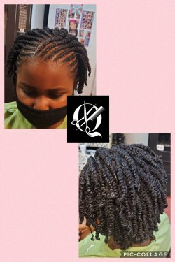 Corn Rolls with 2 Strand Twists