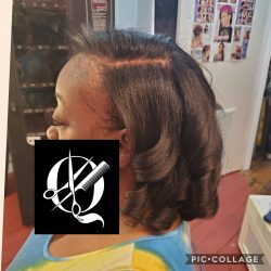Silk Press with Trim & Curls