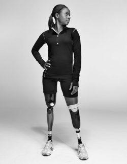 Kari Miller of US sitting volleyball team