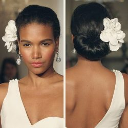 Wedding Updo Hairstyle With Flower