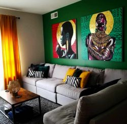 Afrocentric living room design