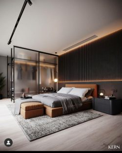 Chic bedroom design