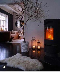 Winter living room design