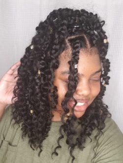 Curly Box Braids