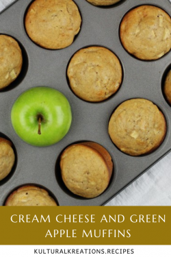 Cream Cheese and Green Apple Muffins