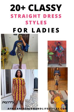 African Fashion Straight Dress Styles