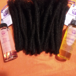 6 inch medium Jay Black with Essential Oils for hair care Royalty Locs