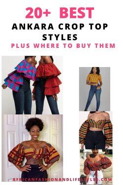African Print Crop Tops For Ladies