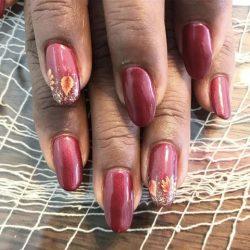 Wine Leaf Nails