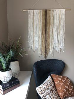 """""""Navajo"""" yarn wall art"""