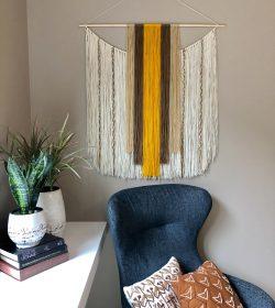 """Zulu"" Yarn Wall Hanging"