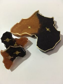 African Continent Earrings