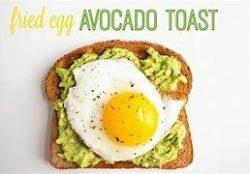 one of my favorite ways to avocado. Hard Fried egg over avocado toast.