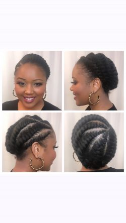 #ProtectiveStyle: Flat Twists on Fine Natural Hair (www.FineNaturalHair.com)