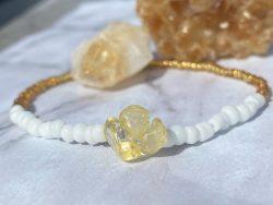 Handmade waistbeads with genuine citrine crystals ?