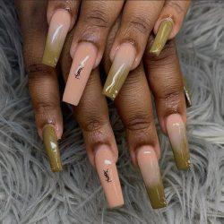 YSL Ombré Nails