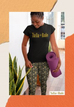 New African print leggings on yayarule.com Wear your pride!