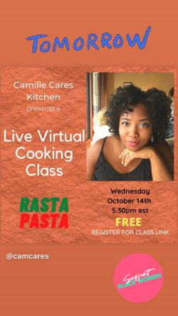 Live Virtual Cooking Class! Rasta Pasta with Oxtail