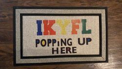 """IKYFL"" Custom Door Mat."