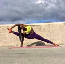 Black Girl Doing Yoga