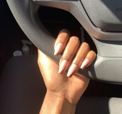Nude and Brown Fall Nails