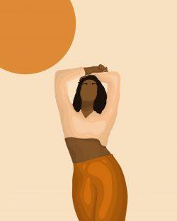 Reach for the sun – Black woman art print