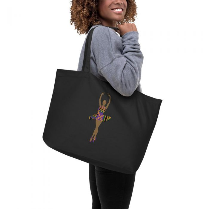 Ballerina themed tote bags
