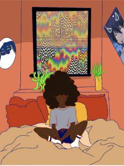 Black girl chillin