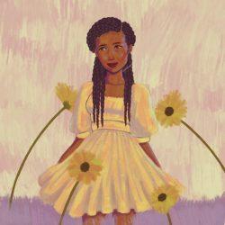 Angelic Black Girl Art
