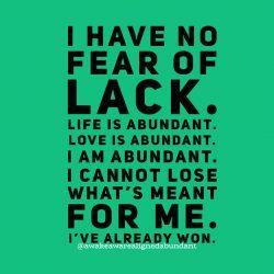 Abundance mindset.