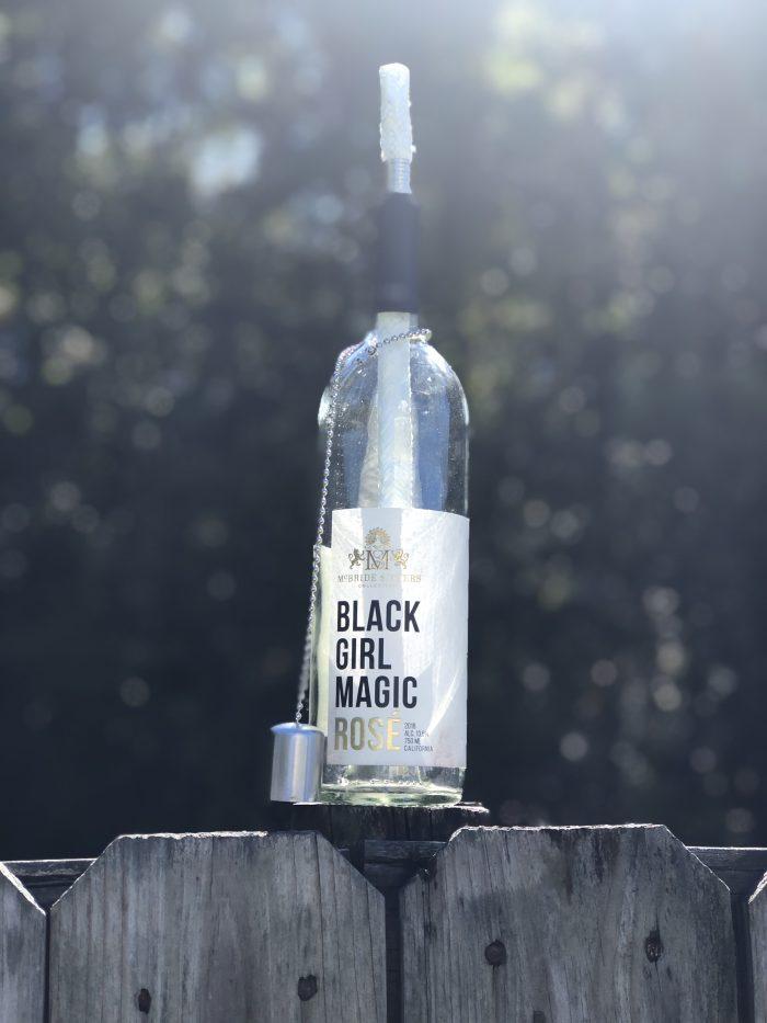 Wine Bottle Wicker Candles