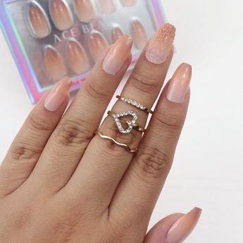 Funnel Cake Press On Nails sold @regalrootshairandbeauty.com @acebeauty
