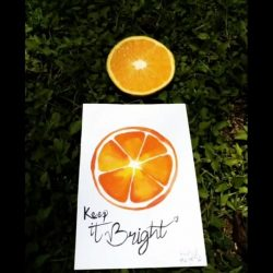 Keep it Bright Quote from Find Me Being Me Instagram