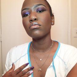 Sultry purple ? makeup look.