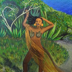 Commission- Island Girl by Jay Percy the Artist @jaypercytheartist