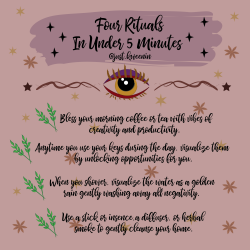Rituals in 5 minutes