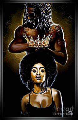My Beautiful Black Queen Art Print by Ortega Missouri