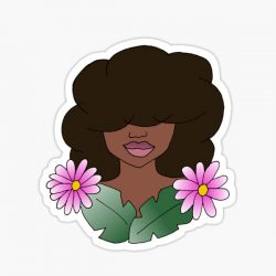 Natural Hair Beauty Sticker