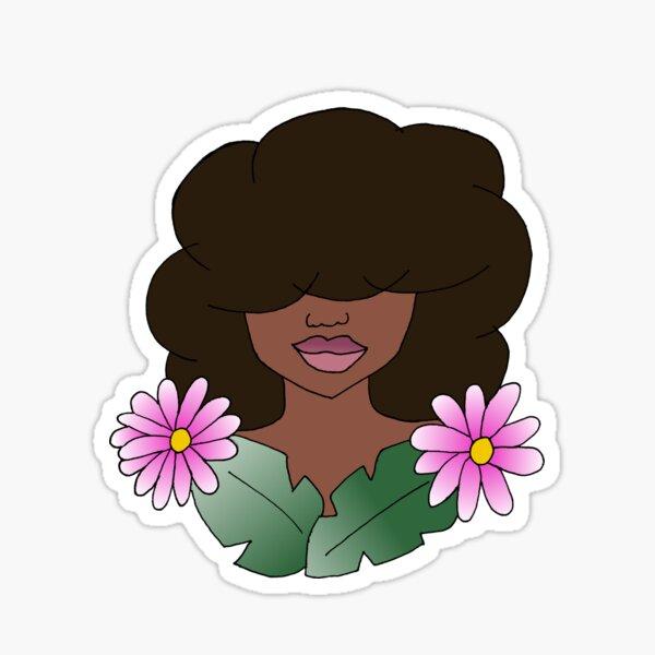 Natural Hair Beauty Sticker