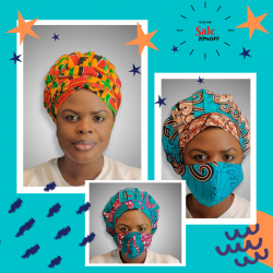 Ankara Bonnets and Matching masks