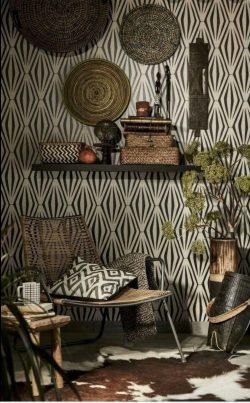 African interior decor wallpaper