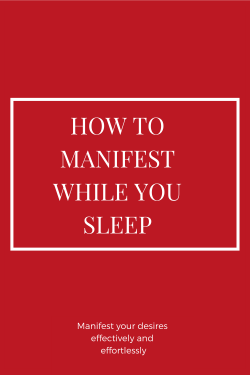 Do this Before You Sleep to Manifest Anything