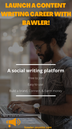 Launch a writing career and let Bawler support you